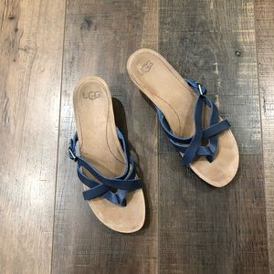 UGG Strappy Leather Wedge Sandal